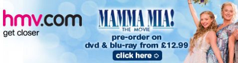 HMV is one of the first to take pre-orders of Mamma Mia! The Movie