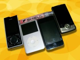 My Devices protected by Zagg's Invisible Shield - Sirius Stiletto 100, iPod Classic, iPod Touch, T-Mobile Shadow, NOT SHOWN: Casio Exilim EX-600 Digital Camera