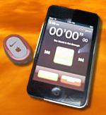Nike+ Sensor With iPod Touch In Nike Workout Application Mode