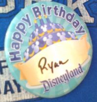 Disneyland Birthday Button