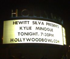 Kylie Hollywood Bowl Sign